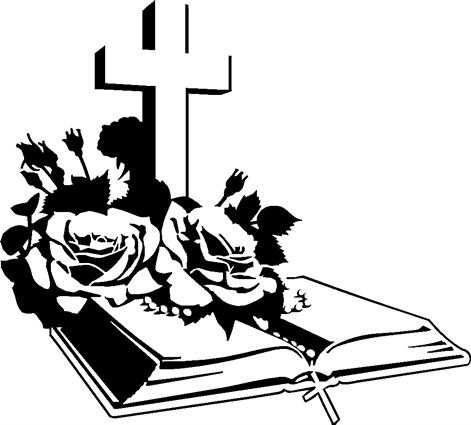 Bible with Cross & Roses