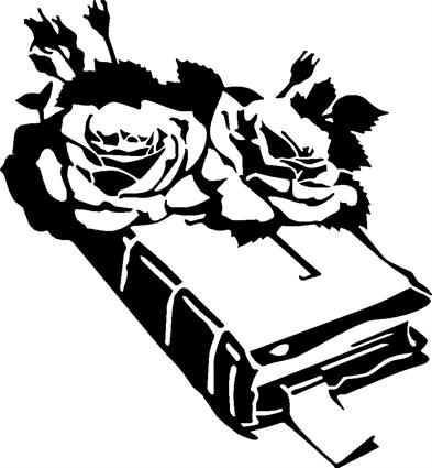 Bible with Roses 002
