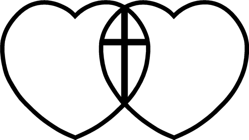 Hearts Intertwined with Cross