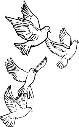 4 Doves in Flight 001